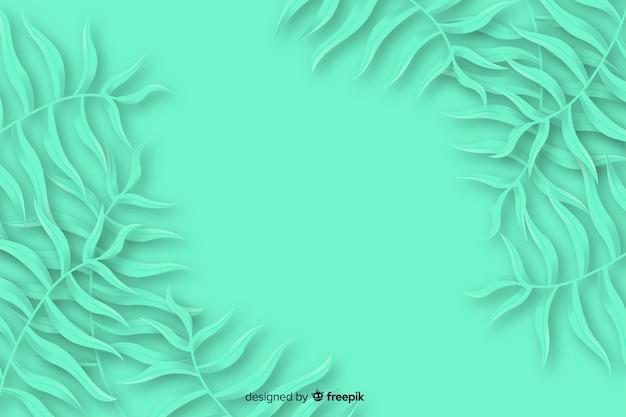 モノクロの葉の背景紙スタイル