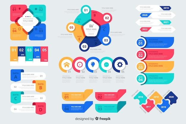 Коллекция красочных инфографики элементов