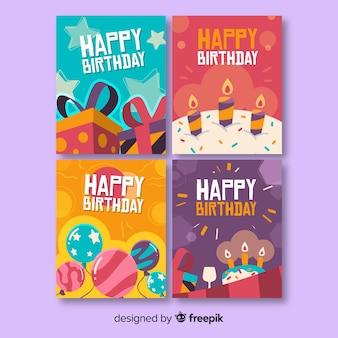 Коллекция рисованной открытки на день рождения