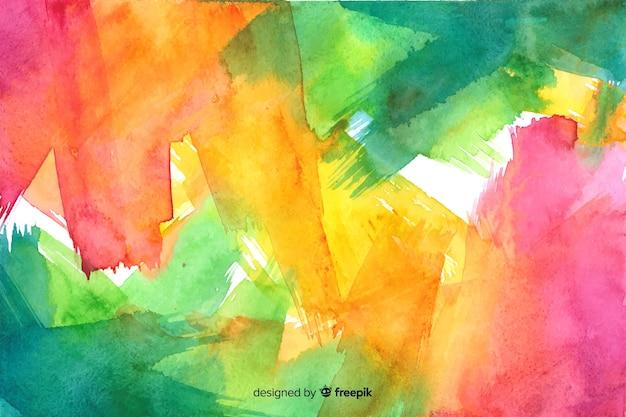 手描きのカラフルな水彩背景