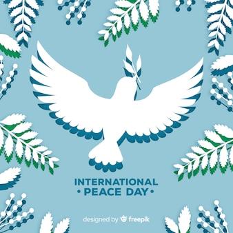 鳩と平和の日の背景