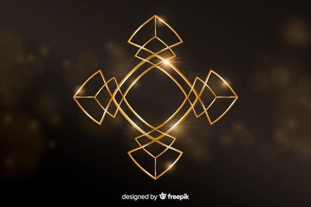 Роскошный фон с золотыми геометрическими фигурами