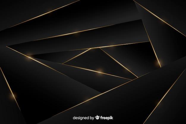 黄金の抽象的な形で豪華な背景