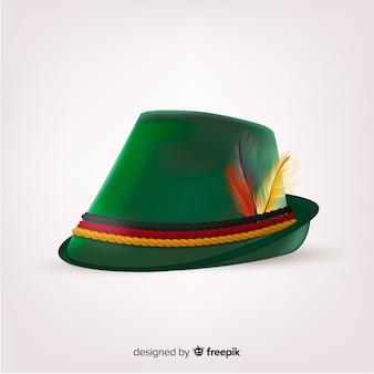 現実的な緑の装飾的なオクトーバーフェスト帽子