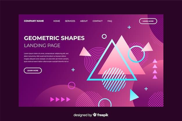 幾何学的図形のランディングページテンプレート