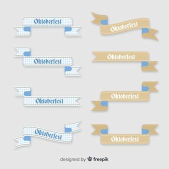 オクトーバーフェストフラットデザインリボンのコレクション