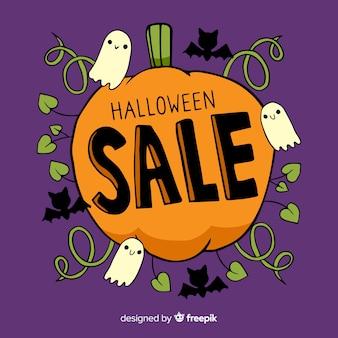 Ручной обращается хэллоуин продажа с тыквой