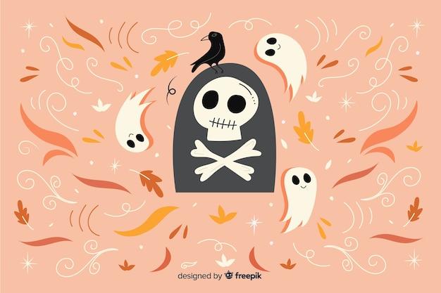 Ручной обращается счастливый фон хэллоуин