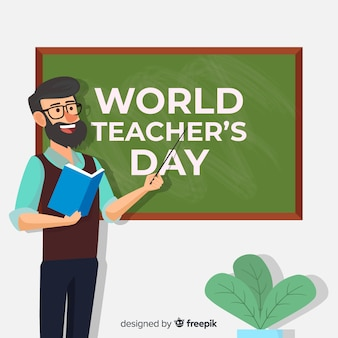 Плоский день учителя мира