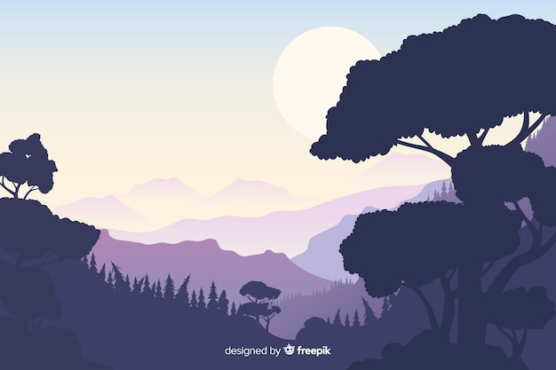 Естественный фон с горным ландшафтом