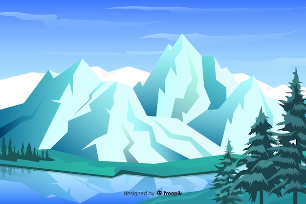 山の風景と自然な背景
