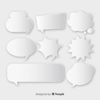Пакет комических речевых пузырей