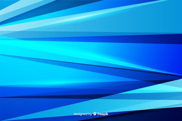 抽象的な青い図形の装飾的な背景