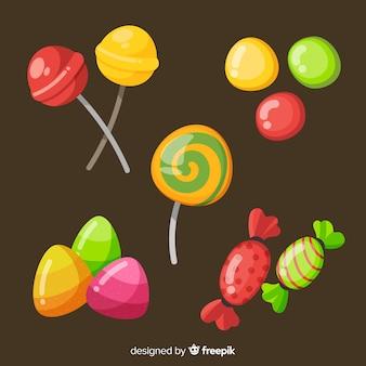 手描きハロウィーンキャンディコレクション