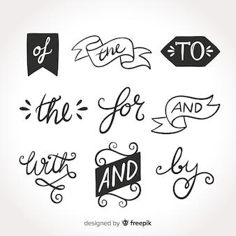 手描きの結婚式の標語コレクション