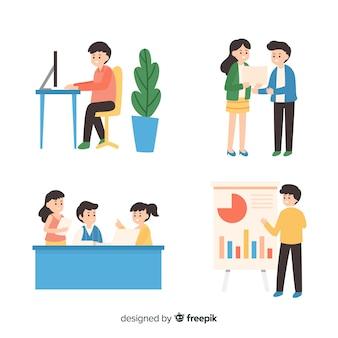 Собрание людей, работающих в офисе