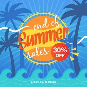夏の終わりの販売の背景