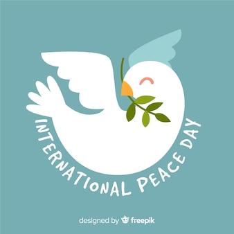 Мирный день фон с голубем