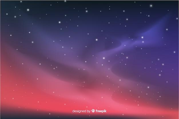 グラデーション星空夜背景