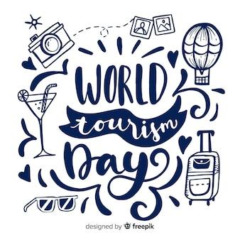 世界観光デーのレタリング