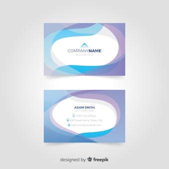青の抽象的なカード用のテンプレート