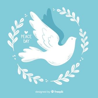 平和の日のためのミニマリストの鳩