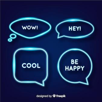 Неоновые пузыри речи с выражениями