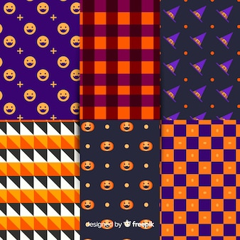幾何学的なハロウィーンパターンコレクション