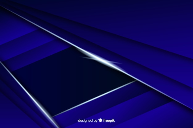 エレガントなダークブルーの多角形の背景