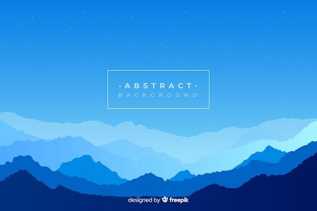 青のグラデーション山の風景