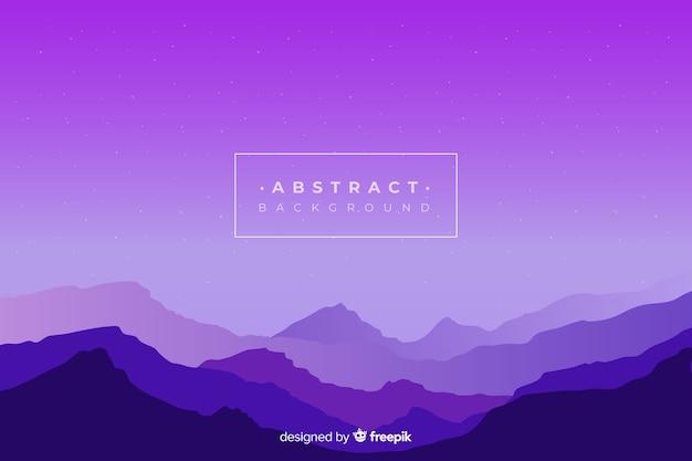 紫のグラデーション山の風景の背景