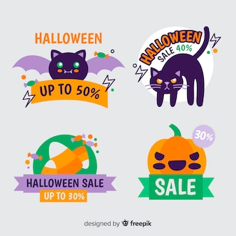 Коллекция значков со скидкой на хэллоуин