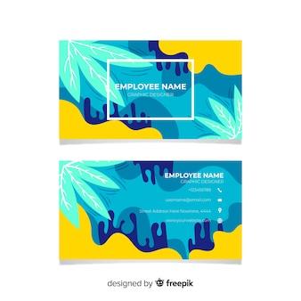 Абстрактная раскрашенная вручную визитная карточка