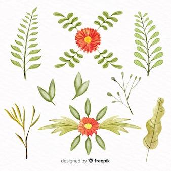 水彩風の花のコレクション