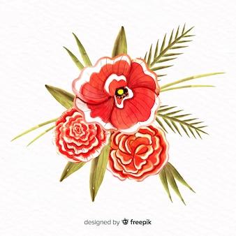 水彩風の花