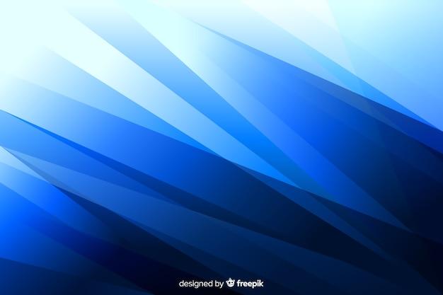 抽象的な形と青色の背景