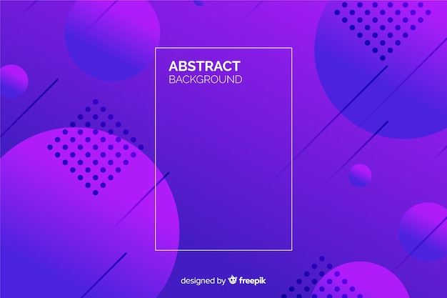 Фиолетовый градиент геометрических фигур фон