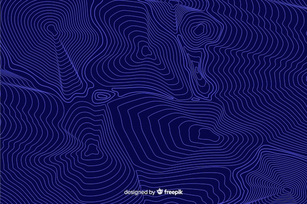 Синий фон топографические линии