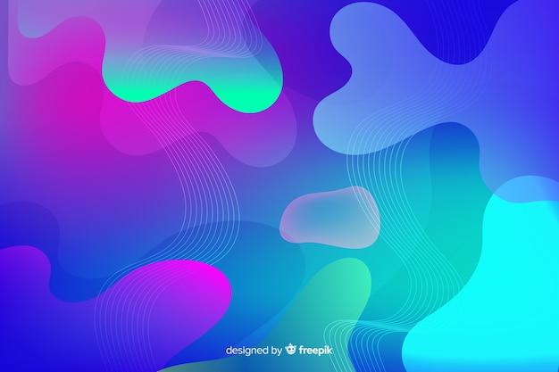 グラデーションの液体形状の壁紙