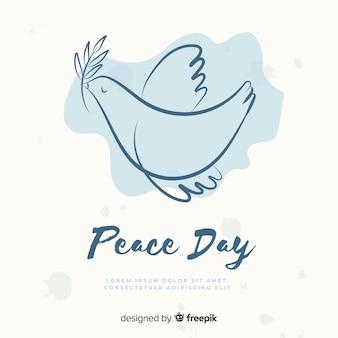 Ручной обращается день мира голубь