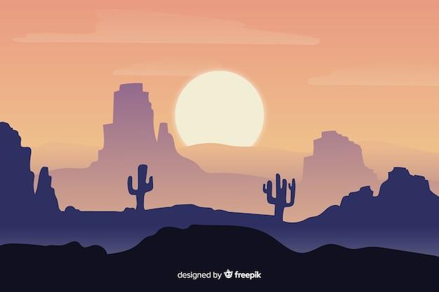 グラデーションの砂漠の風景の背景