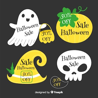 Коллекция бейджей для распродаж хэллоуин