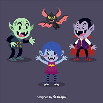 バットで平らな吸血鬼キャラクターコレクション