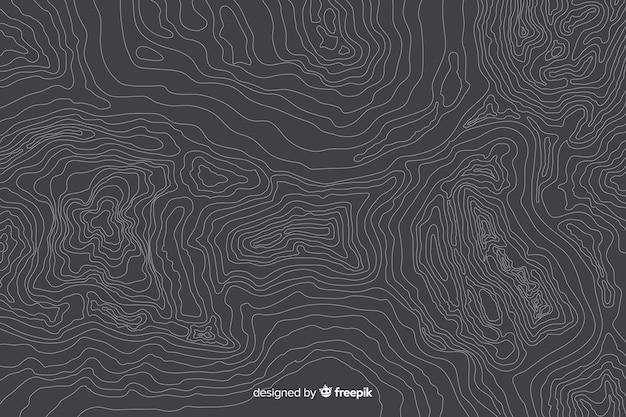 灰色の背景に多数の地形線