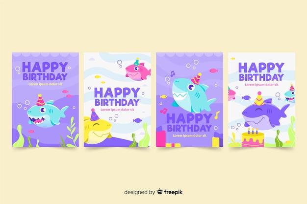 手描きの誕生日カードコレクション