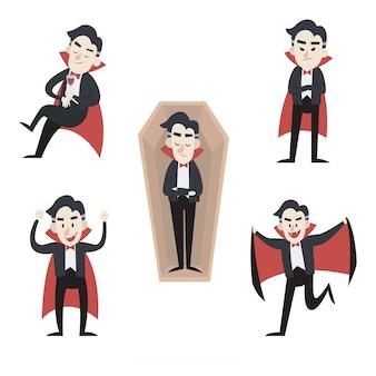 手描きの吸血鬼キャラクターコレクション