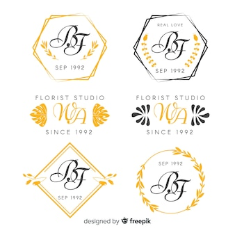 Свадебная коллекция монограмм логотипов