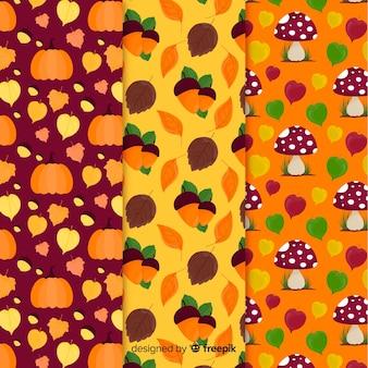 フラットなデザイン秋パターンコレクション