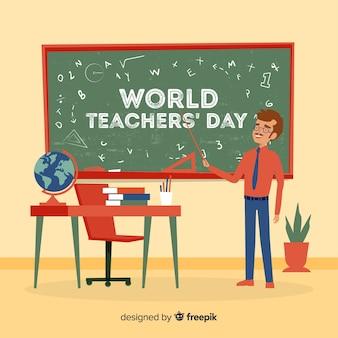 手描きの先生の日の背景