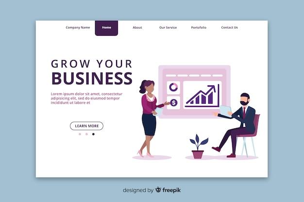 ビジネスのランディングページテンプレートを成長させる